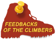 Feedbacks of the climbers