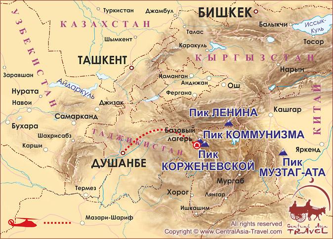 Карта заезда