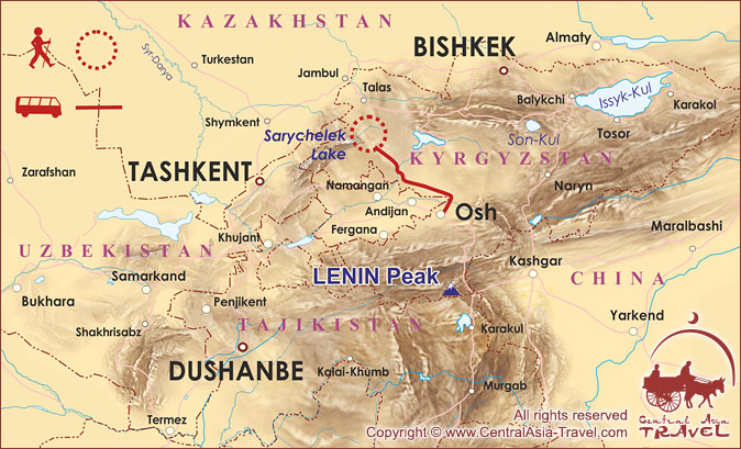 Trekking in Tien-Shan mountains to lake Sary-Chelek ...