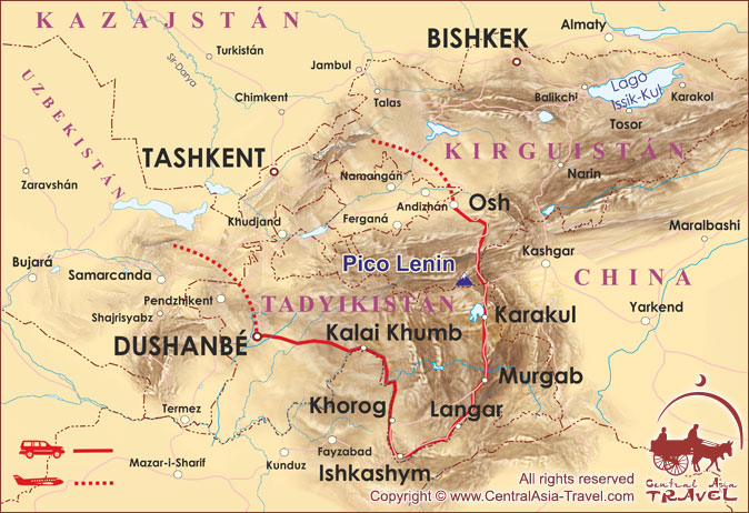 Por Carreteras Alpinas Dal Pamir Corredor De Wakhan Y