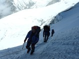 Traverse of the Glacier of Korjenevskaya Peak