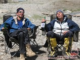 Having rest in Base Camp