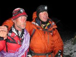 Bojan and Jaka after skiing North face - from 7000 m