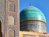 La cúpula de la madraza Miri-Arab. Bukhara, Uzbekistán
