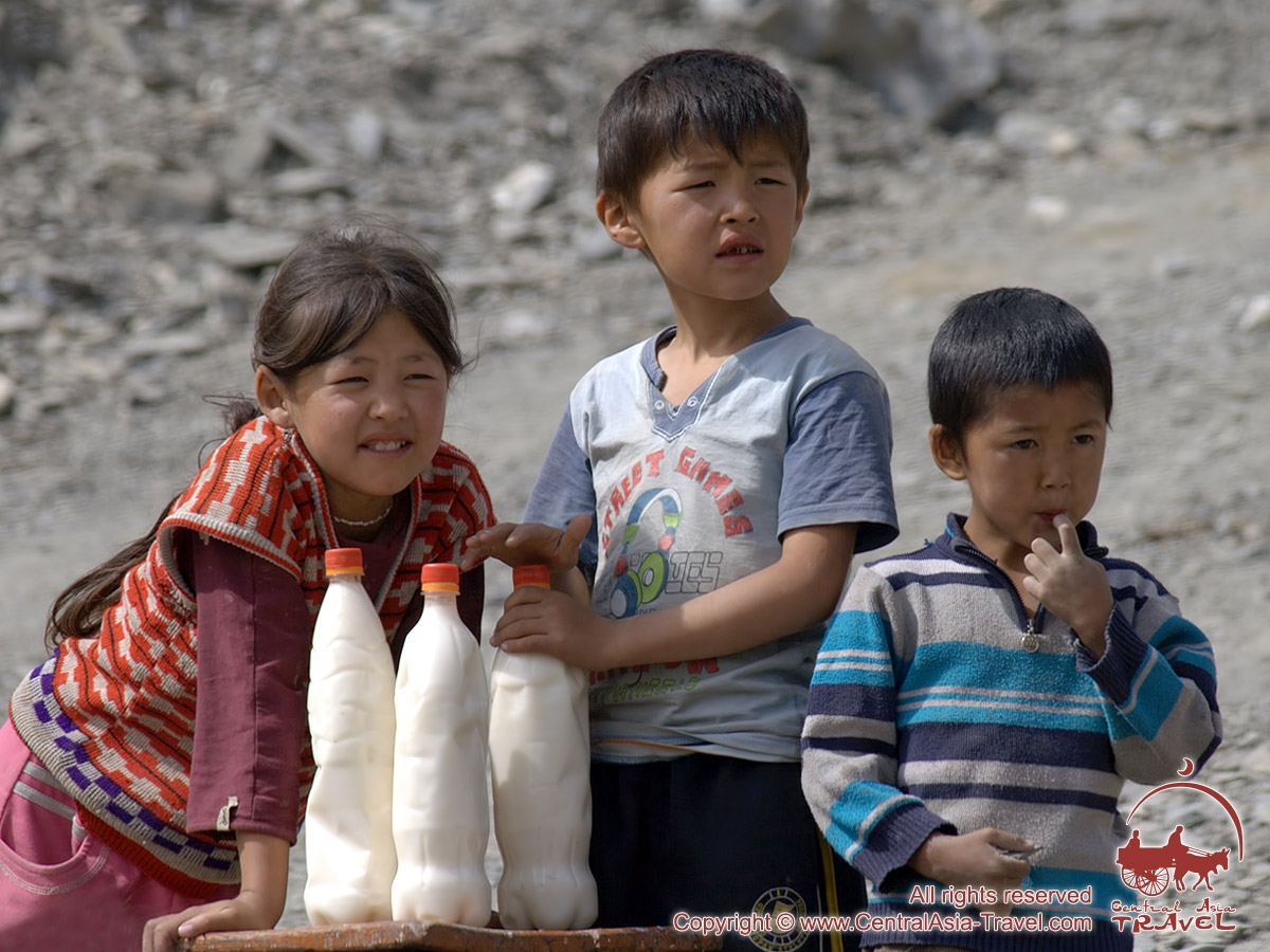 Kyrgyz children. Kyrgyz people