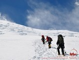 On the way to the Camp 3. Lenin peak, Pamir, Kyrgyzstan