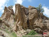 Rocks on the descent into the Gulkam gorge. Chimgan, Western Tien Shan, Uzbekistan