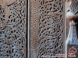 Woodcarving handwork. National art of Uzbekistan