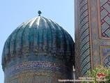 Купол медресе Шер-Дор (XVII в.). Площадь Регистан, Самарканд, Узбекистан