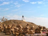Altillo Jumart-Kassab (antigua necrópolis de Mizdahkan - siglo IV aC - siglo XIV, siglos XVII-XX). Karakalpakstan, Uzbekistán