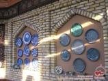 Uzbek National lagans (ceramic plates). Uzbek handmade crockery
