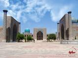 Registan square (Ulugbek Madrasah, Sher-Dor Madrasah, Tilla-Qori Madrasah). Samarkand,  Uzbekistan