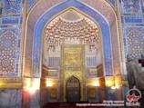 Décoration intérieure de la mosquée Tilla-Kori (XVIIe siècle). Samarcande, Ouzbékistan