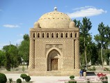 Ismail Samani Mausoleum (also the Samanid Mausoleum 19th c.). Bukhara, Uzbekistan