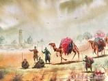 Караван верблюдов (картина). Узбекистан