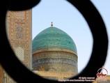 Gumbaz (Kuppel) auf der Mir-i Arab Madrasa. Buchara, Usbekistan
