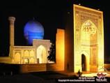 Mausoleo Gur-Emir (tumba de Amir Temur, s.XV). Samarkanda, Uzbekistán