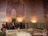 Das Innenteil der Mausoleum Gur-Emir (die Gruft der Dynastie von Timuriden - XV Jh.). Samarkand, Usbekistan