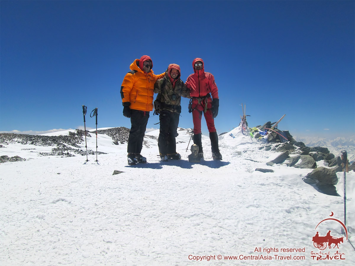 Summit of the Lenin Peak (7134m). Pamir, Kyrgyzstan