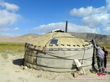 Kyrgyz yurt. The traditional dwelling of Kyrgyz people