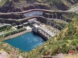Nurek reservoir. Tajikistan