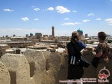 Panorama of Bukhara from Ark Fortress. Uzbekistan, Central Asia