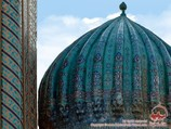 Dome of the Sher-Dor Madrasah. Registan Square, Samarkand, Uzbekistan