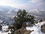 View to the foot of Big Chimgan and Kyzyl-Jarr mountain