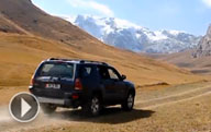 In an off-road vehicle across Kyrgyzstan