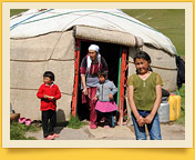 Юртовый лагерь. Кочкор, Кыргызстан