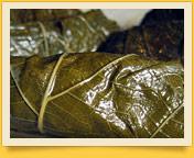 Долма - голубцы из листьев виноградника. Блюда узбекской кухни