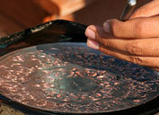 Embossing copper in Uzbekistan