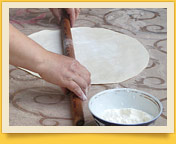 Тесто для ханума. Узбекские национальные блюда