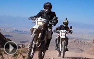 Riding motorbikes through Kyrgyzstan