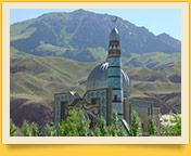 Naryn city in Kyrgyzstan