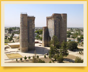 Дворец Ак-Сарай (XIV - XV вв.). Резиденция Амира Темура в Шахрисабзе. Шахрисабз, Узбекистан