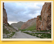 The Tash-Rabat caravanserai. Kyrgyzstan