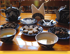 La cultura tradicional de la fiesta del té en Asia Central