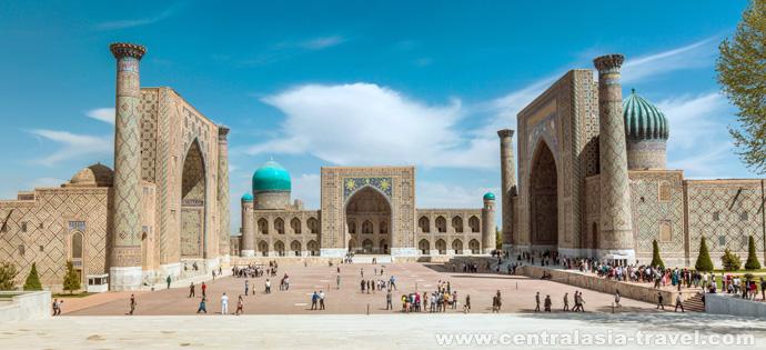 Reguistan palace. Uzbekistan, Samarkand. Tour to Uzbekistan