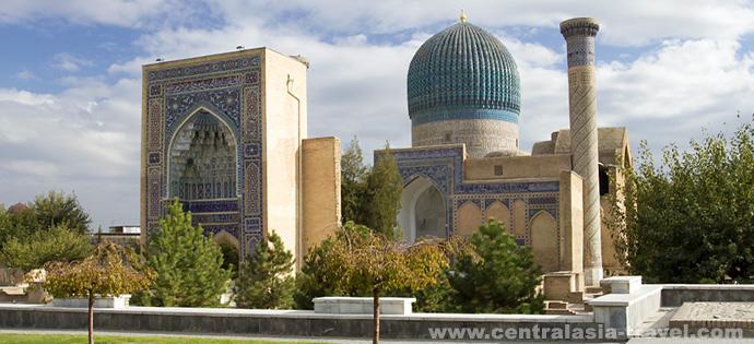 Mausoleum Gur-Emir. Samarkand, Usbekistan. Reise nach Usbekistan
