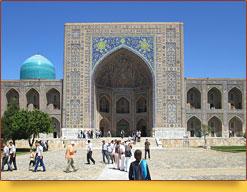 Площадь Регистан. Медресе Тилля-Кари (XVII в). Узбекистан, Самарканд