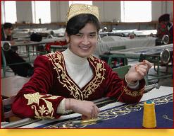 Fabrique de broderie d'or a Boukhara