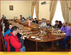Дегустационный винный зал в доме-музее Филатова. Самарканд, Узбекистан
