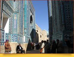Архитектурный ансамбль Шахи-Зинда (XI-XV вв.). Самарканд, Узбекистан