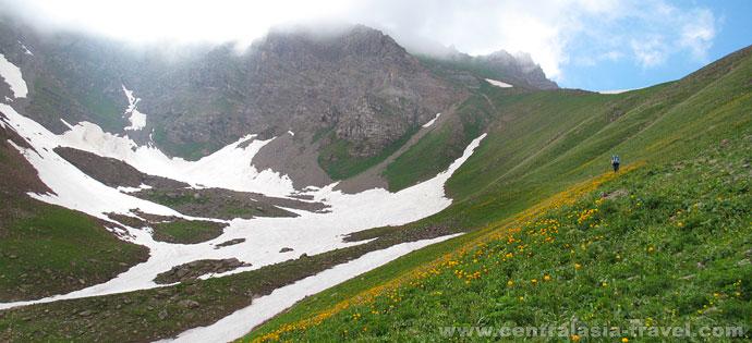 Horse-riding tour in Kyrgystan mountains