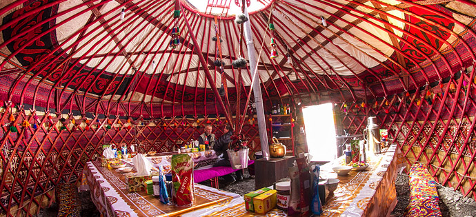 Yurt. Camp 1. Lenin peak
