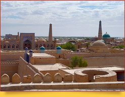 Панорама Хивы. Узбекистан