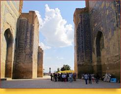 Ak-Saray Palace (XIV - XV). The residence of Amir Temur in Shakhrisabz. Uzbekistan