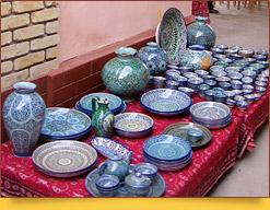 Hand-made ceramics. Rishtan