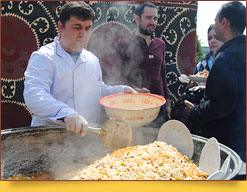 Tashkent wedding pilaf. Types of pilaf